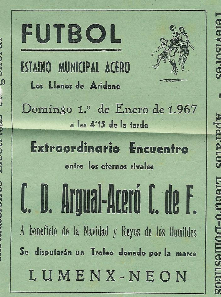 Un anuncio de un partido entre los dos equipos representativos de Los Llanos.