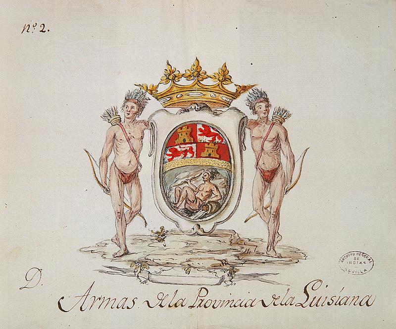 Escudo de la provincia de Luisiana.