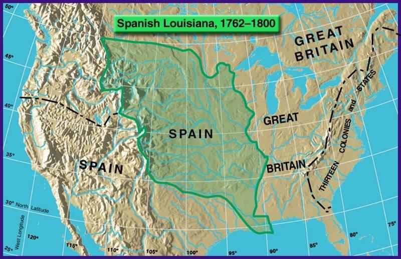Luisiana 1762-1800.