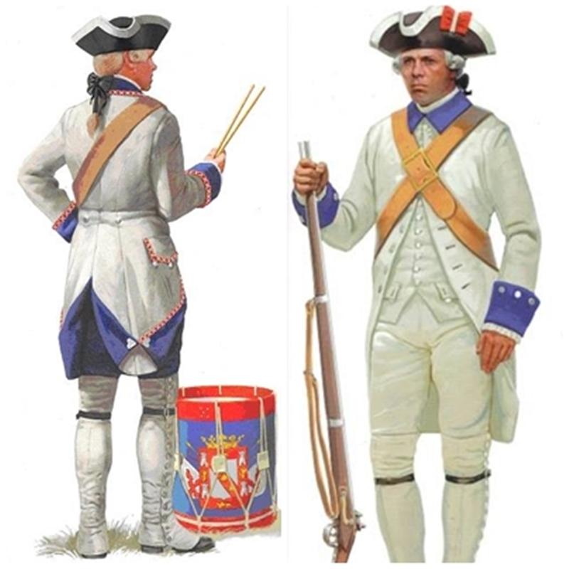 Tambor y soldado regimiento Luisiana.