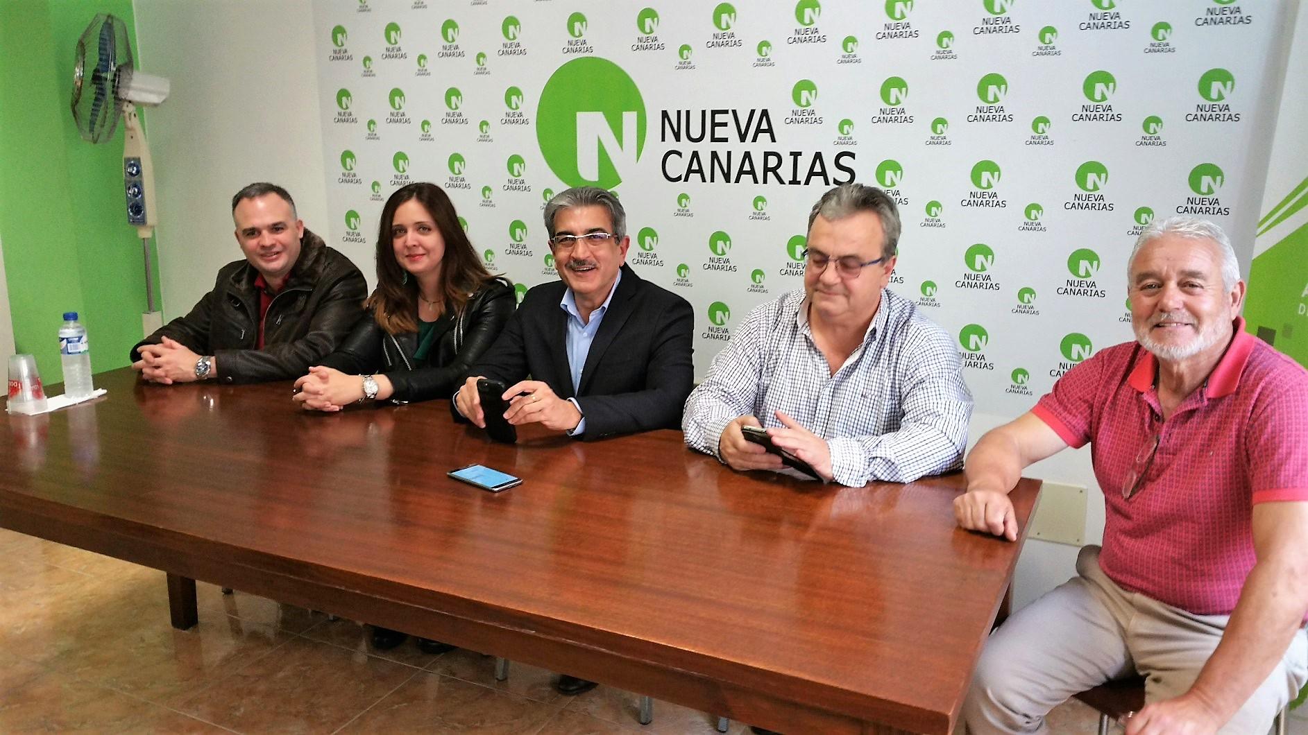 Román Rodríguez en la sede de Nueva Canarias.