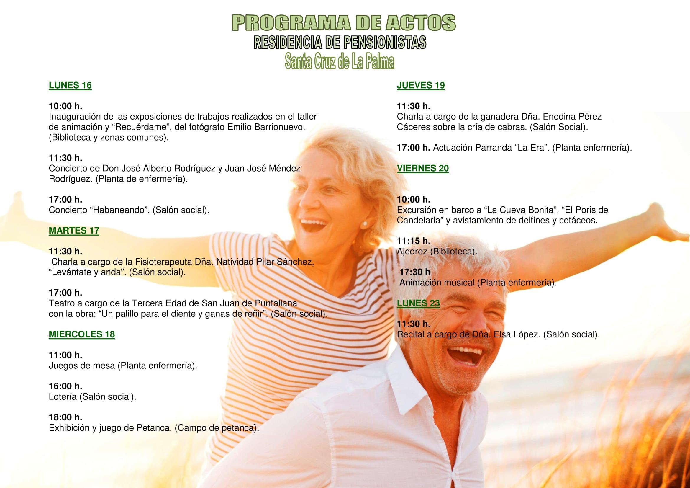 Programa Semana Mayor Residencia de Pensionistas 2017-2