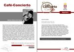 El ciclo musical 'Café-concierto' vuelve este sábado con la actuación de Esther Alfonso Da Costa