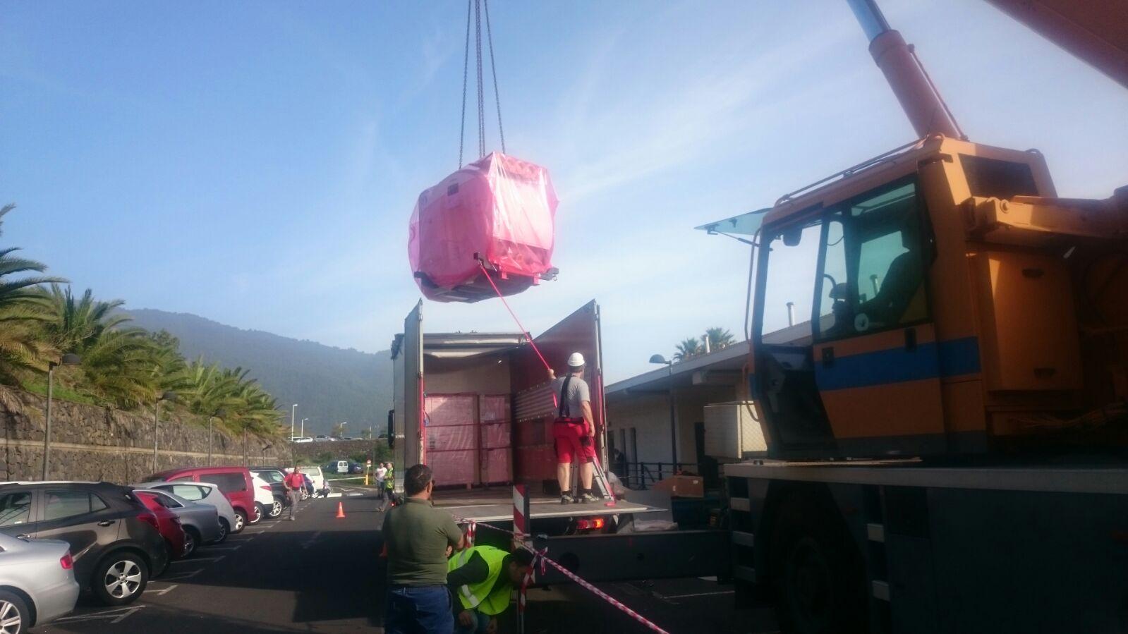 Material para la resonancia magnética para el Hospital de La Palma
