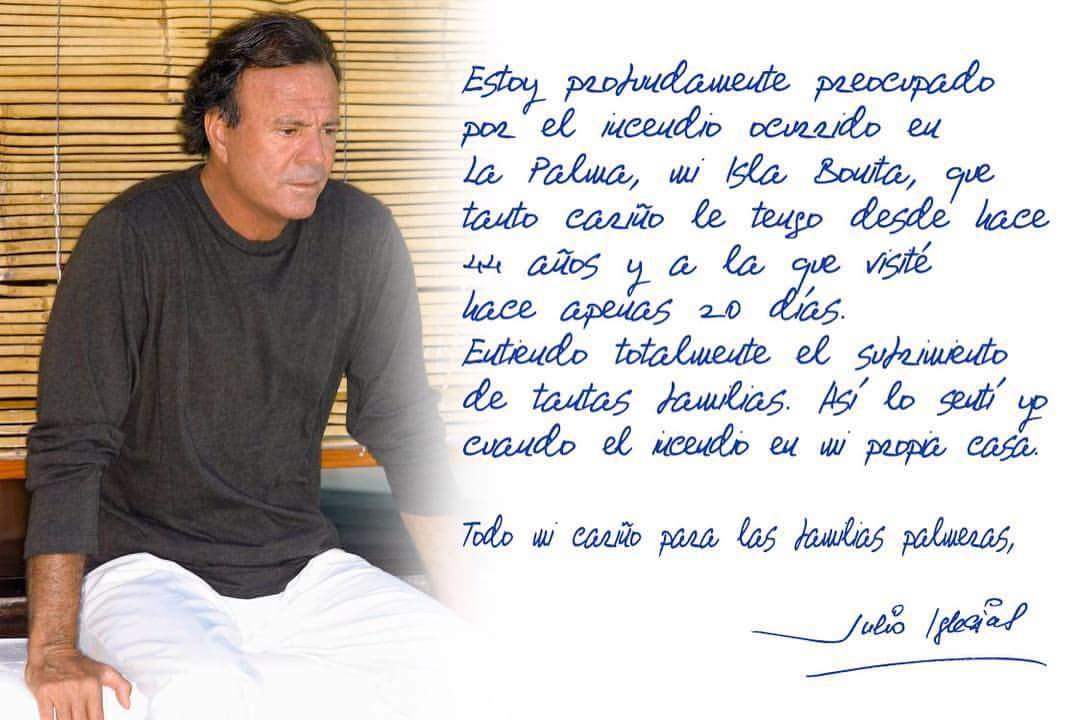 Julio Iglesias Preocupado Por El Incendio Manda Todo Mi