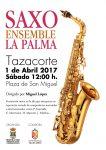 Saxo Ensemble La Palma actúa este sábado en la plaza de San Miguel de Tazacorte