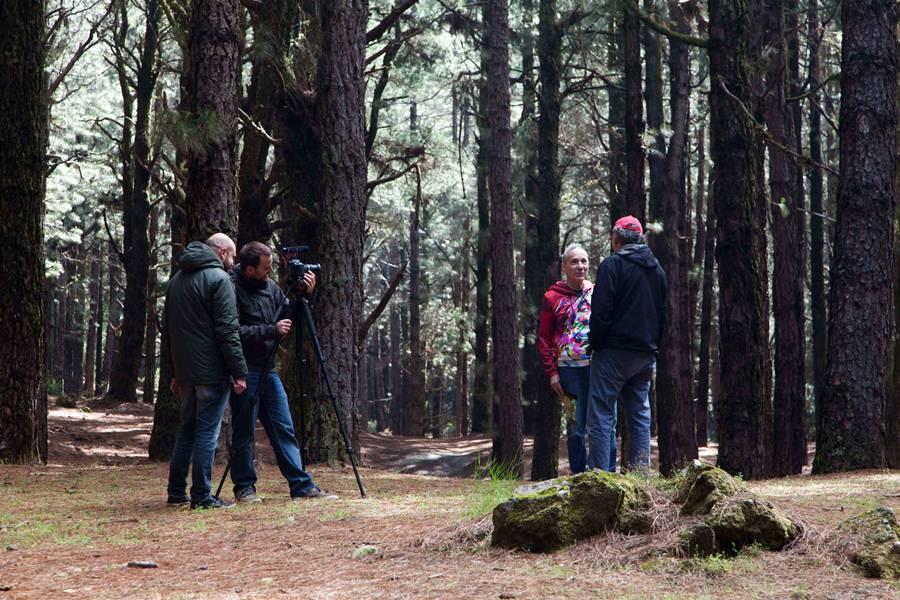 Rodaje de la película en El Festivalito. Foto de Virginia Park