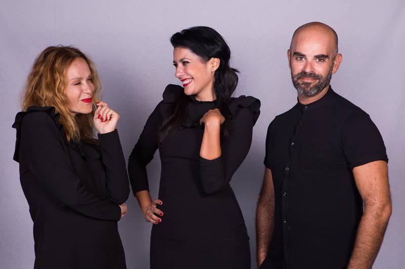 De izq a dcha, Antonia San Juan, Yanely Hernández y Mingo Ruano.