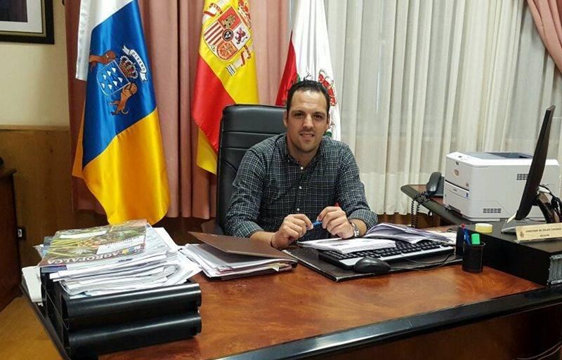 Jonathan Felipe Lorenzo, alcalde Breña Alta