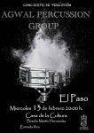 Agwal Percussion Group actúa en El Paso