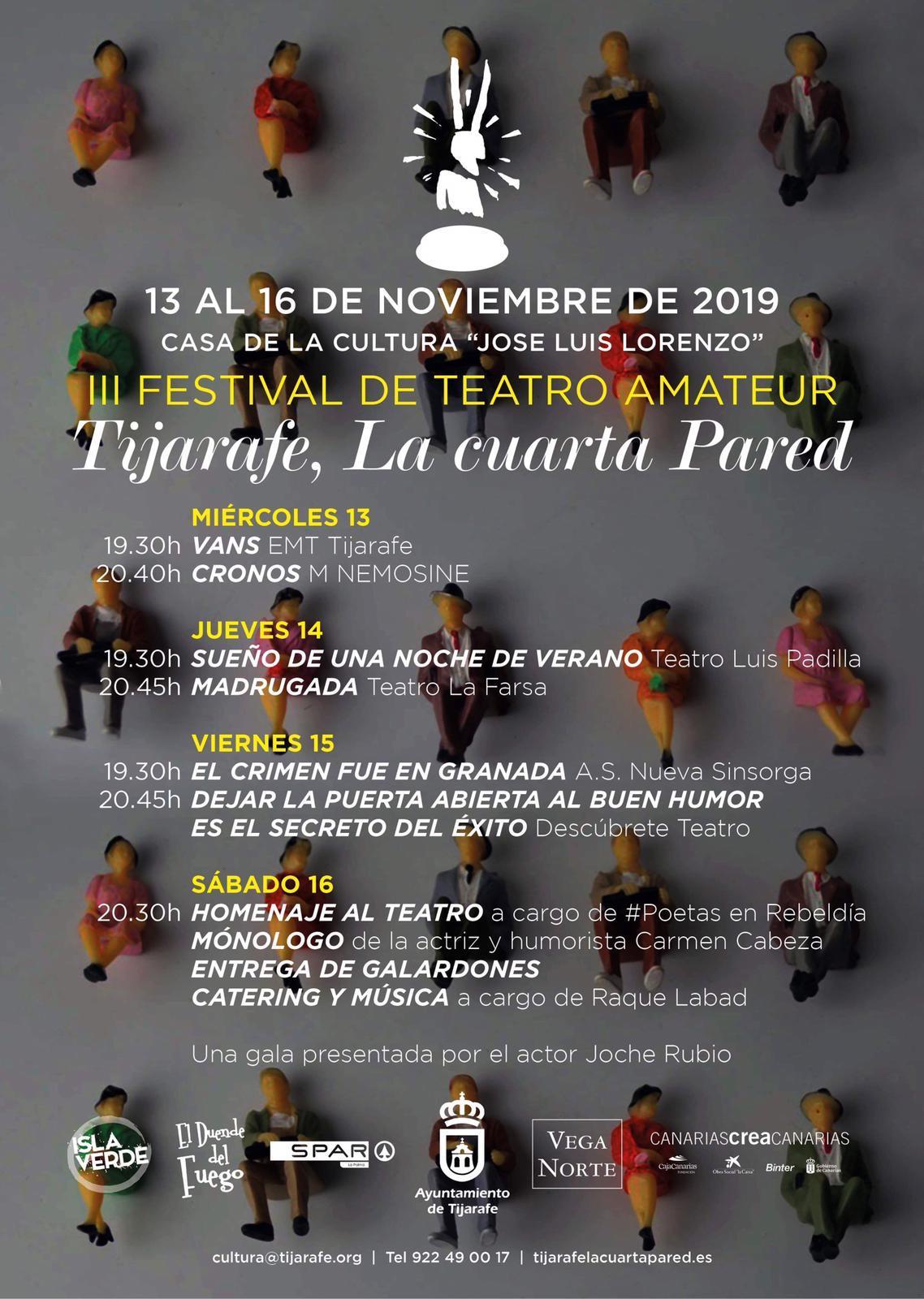 "El festival de teatro amateur ""Tijarafe, la cuarta pared ..."