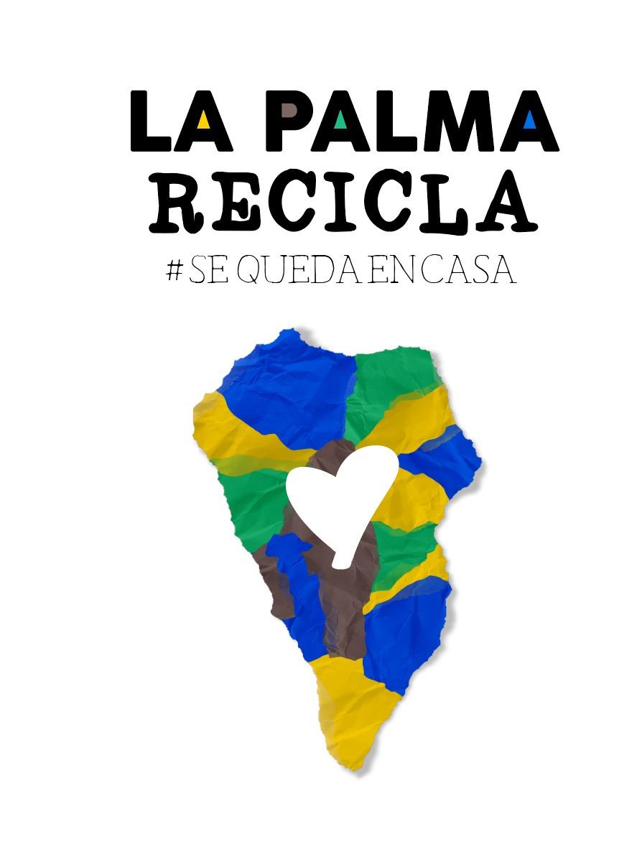 Logo La Palma Recicla se queda en casa