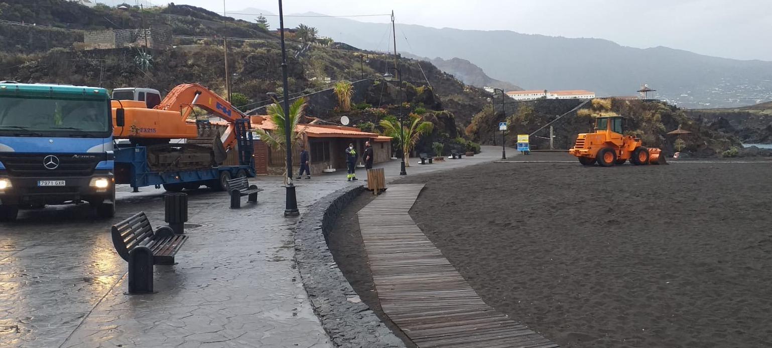 Trabajos de mejora en Los Cancajos.
