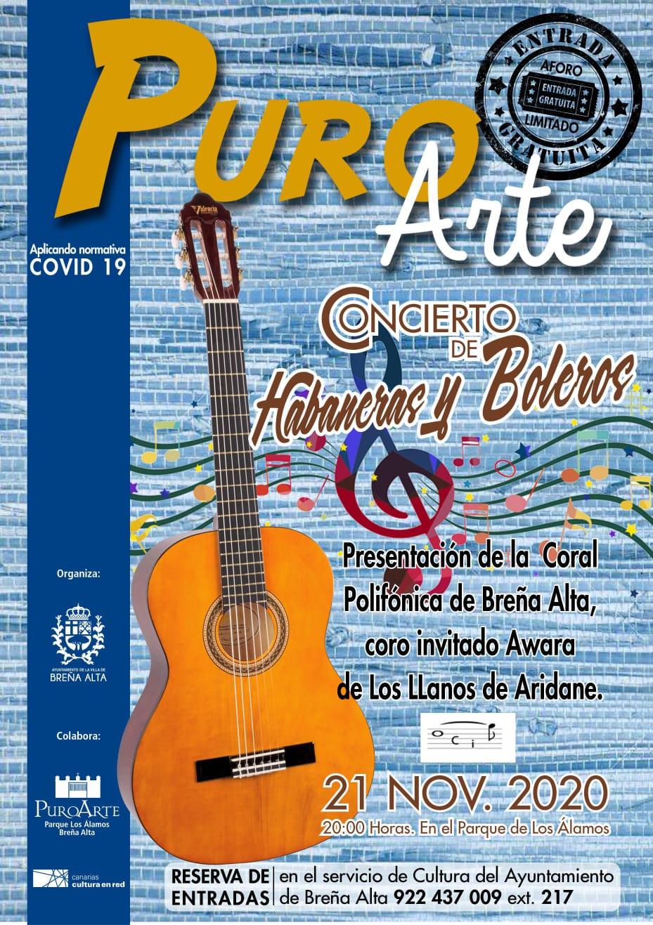 Cartel promocional I Encuentro de Habaneras y Boleros de Breña Alta