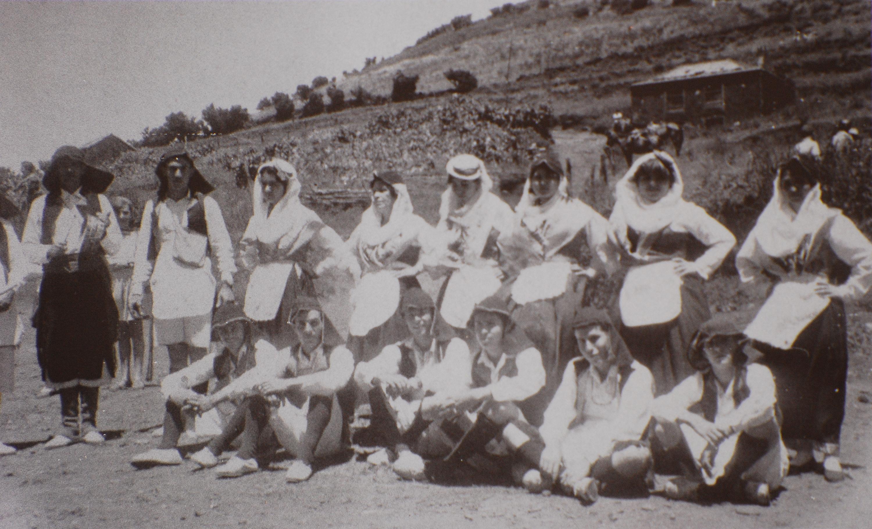 Grupo de Las Tricias a mediados del siglo XX .